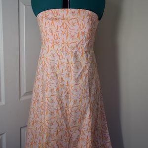 NEVER WORN Peach Strapless GAP dress